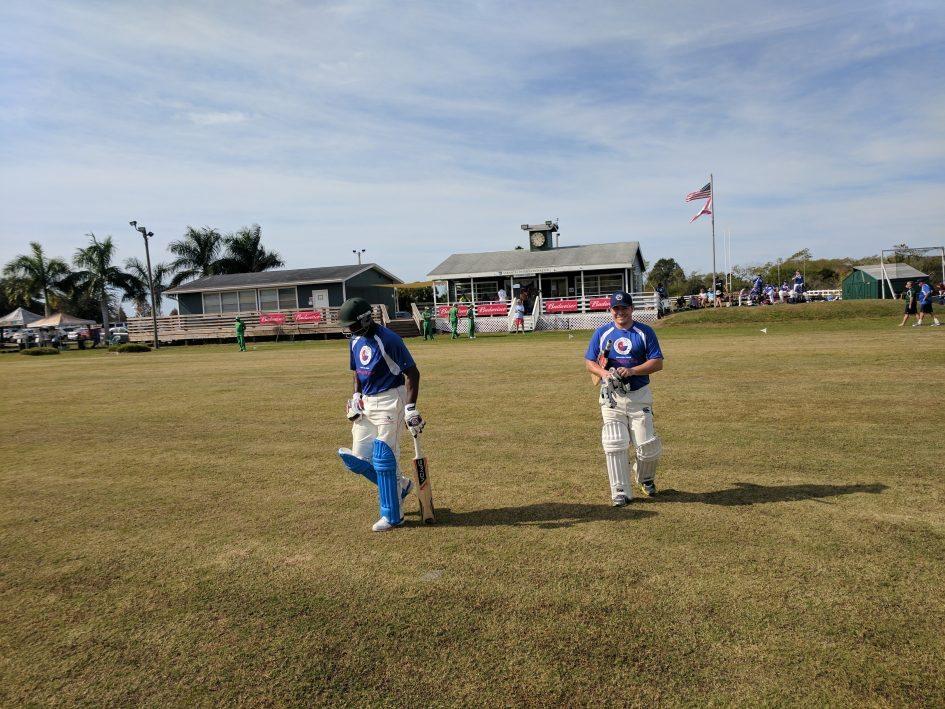 Houston Memorial Batsmen Coming out to Bat